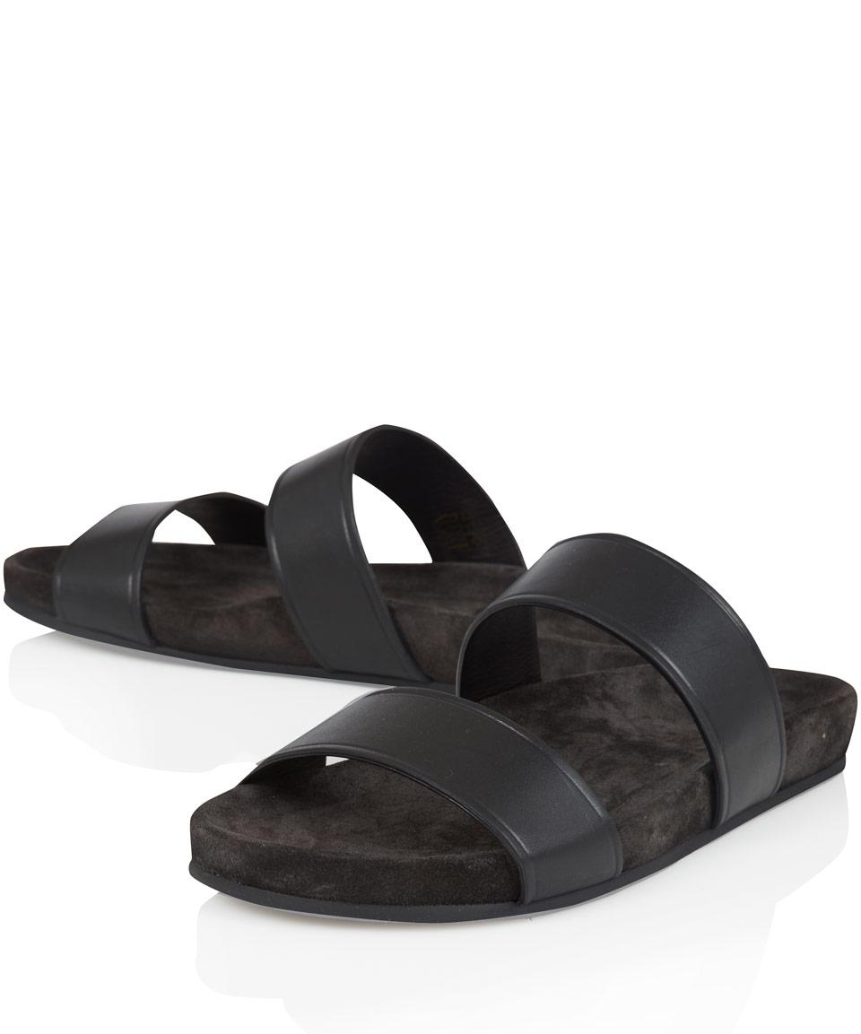 9ce78b0df26a2 Lyst - Lanvin Black Double Strap Sandals in Black for Men