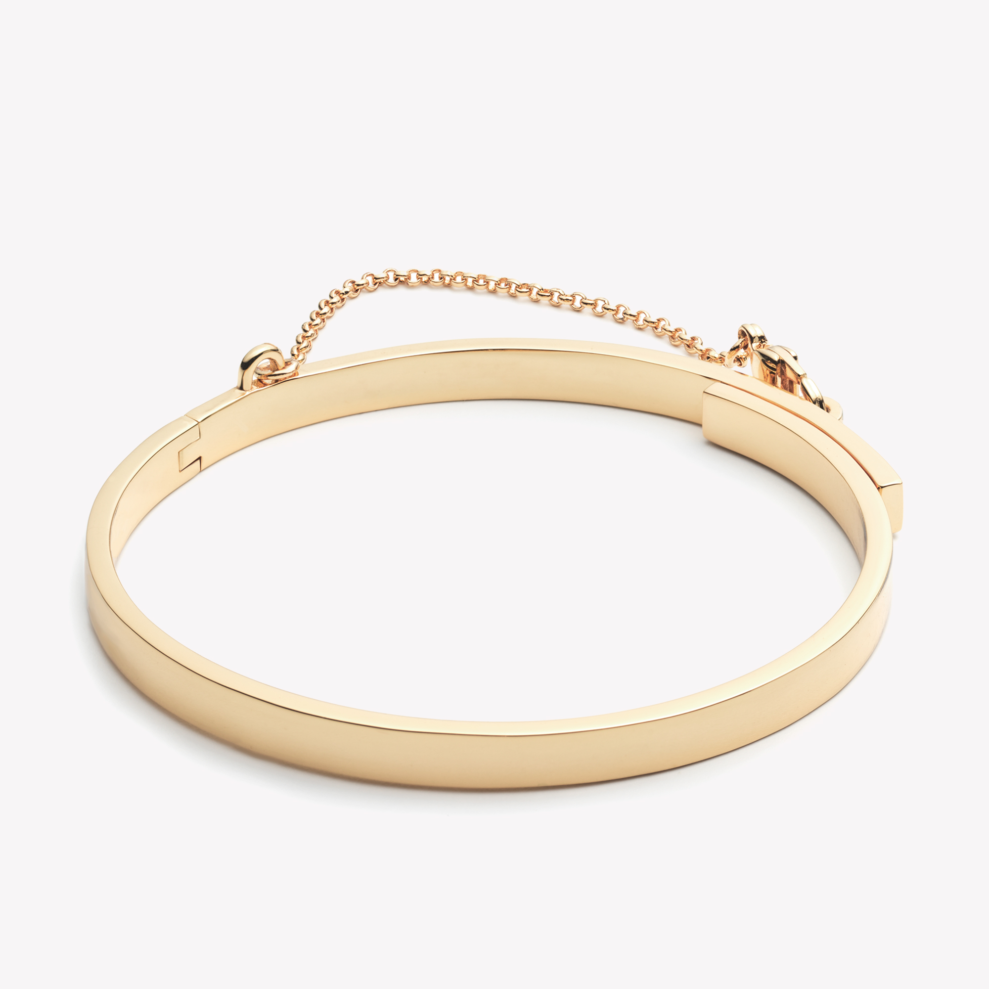 Thin Gold Chain Bracelet: Eddie Borgo Extra Thin Safety Chain Bracelet Gold In