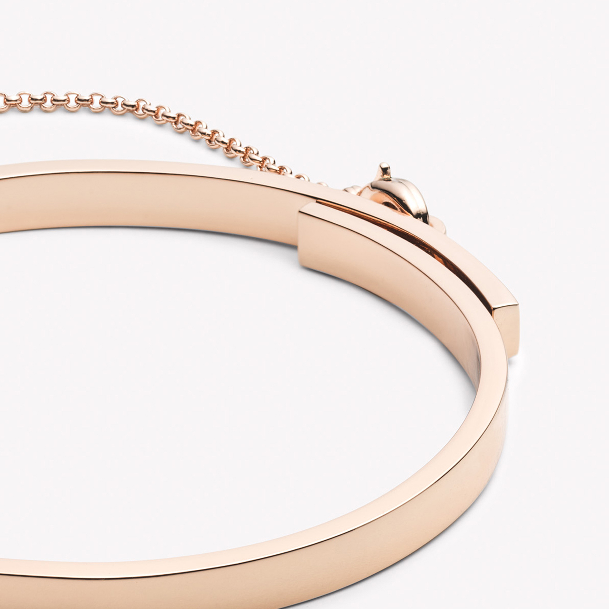 Thin Gold Chain Bracelet: Eddie Borgo Extra Thin Safety Chain Bracelet Rose Gold In