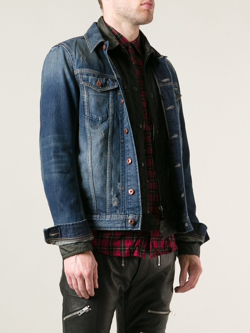 Diesel Denim Jacket in Blue for Men | Lyst