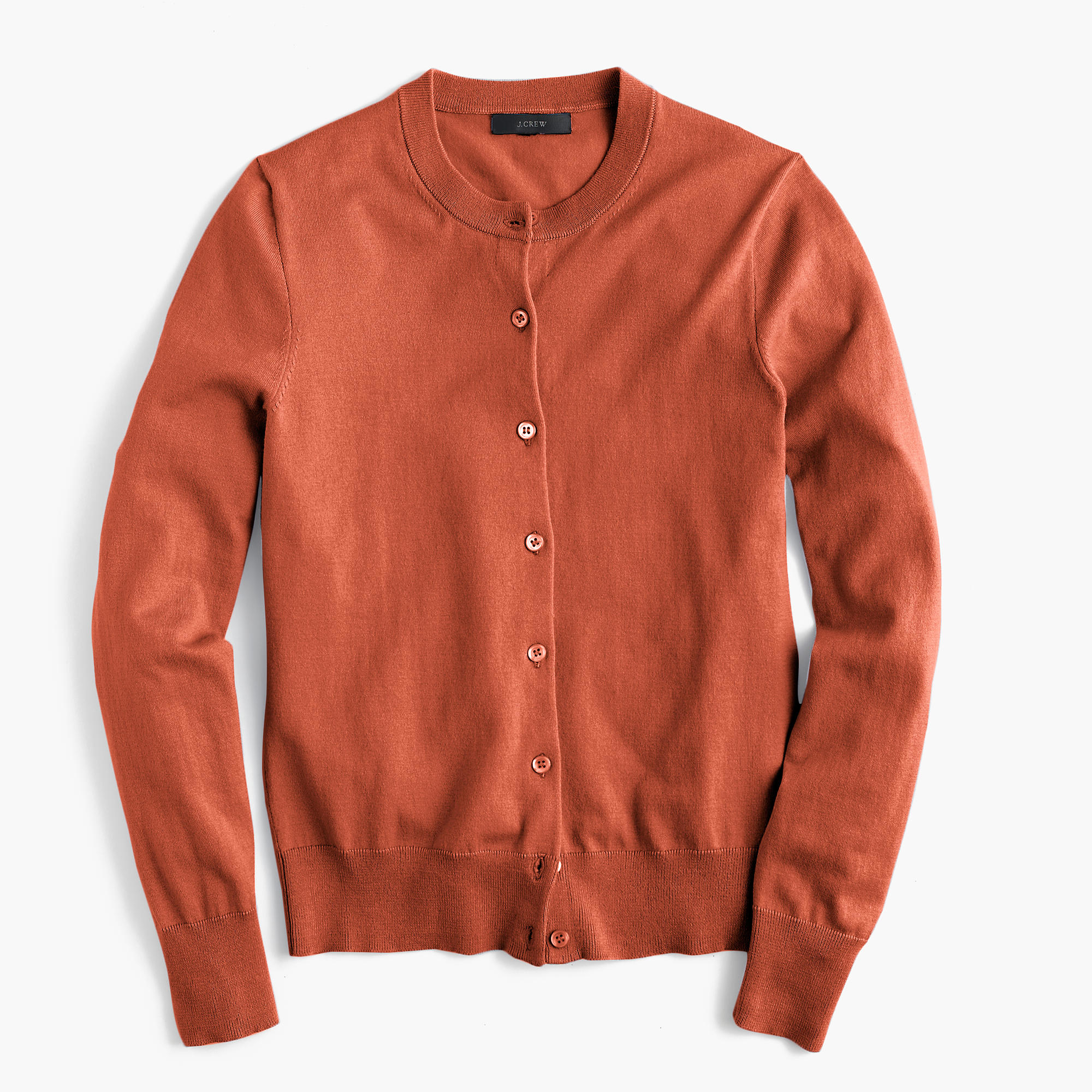 J.crew Cotton Jackie Cardigan Sweater in Orange for Men | Lyst