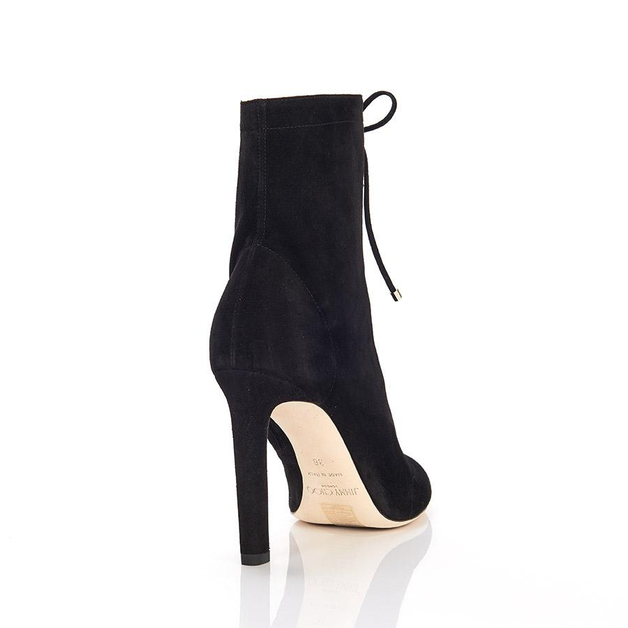 a2f8db87c33 Lyst - Jimmy Choo Daize Lace-up Suede Ankle Boots in Black