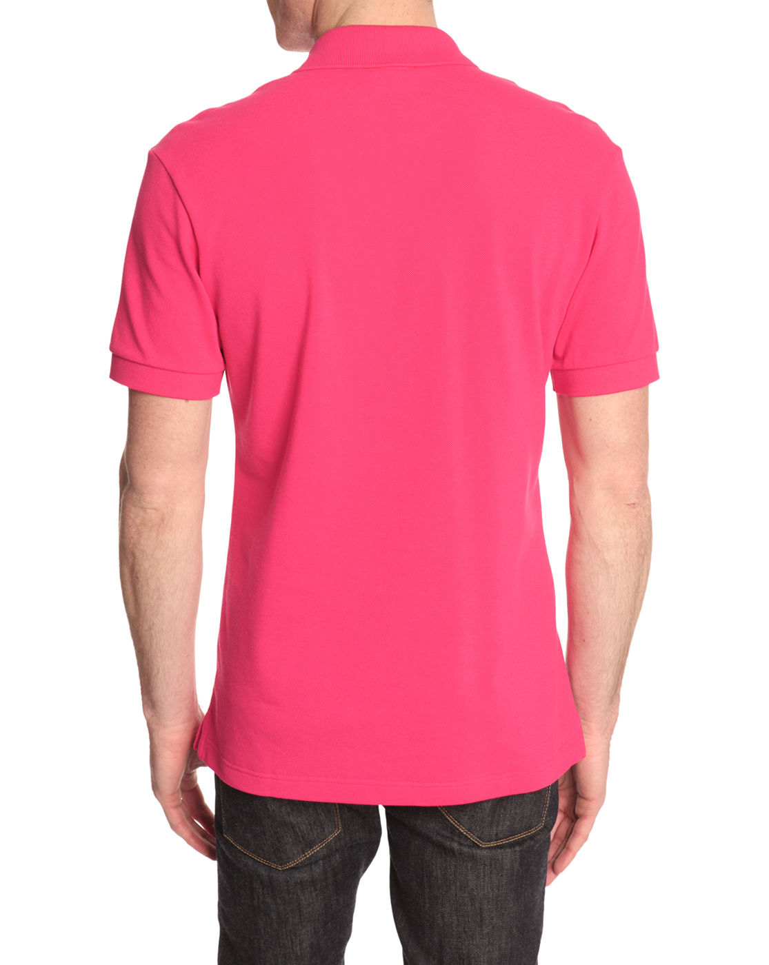 Lacoste Slim Fit Shortsleeved Pink Polo Shirt in Pink for ...