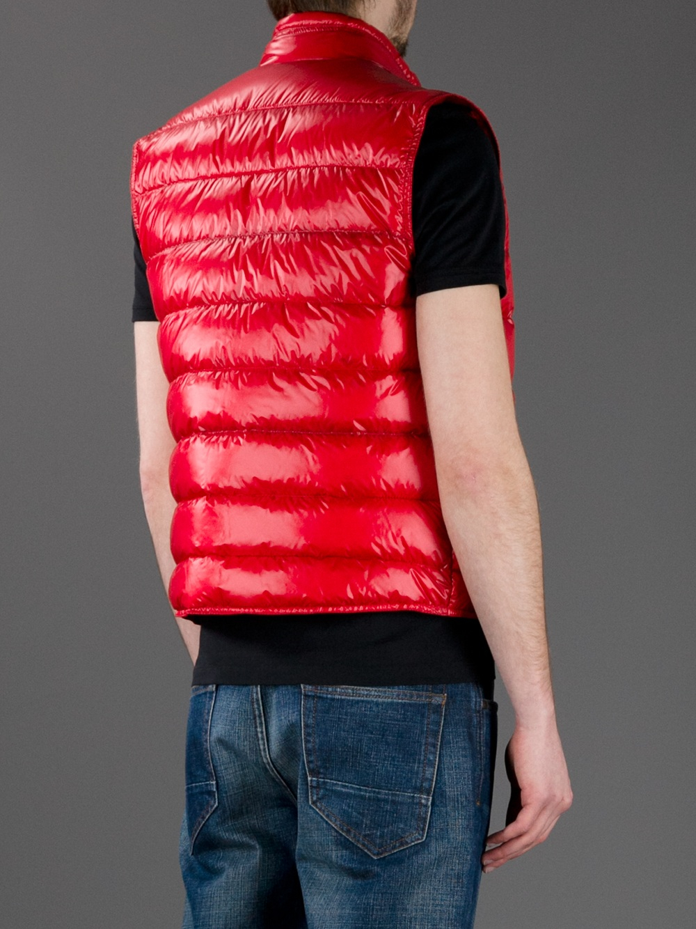 Lyst Moncler Gui Puffer Vest In Red For Men