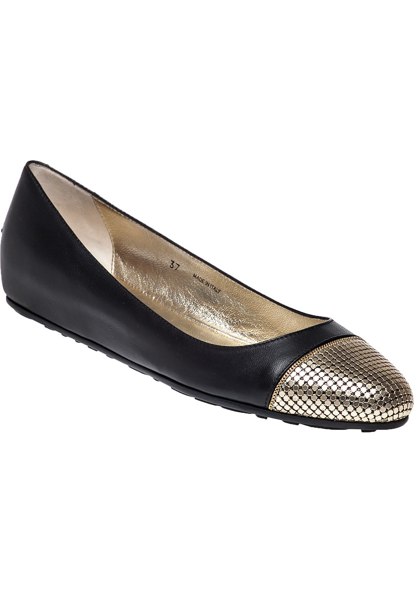 e55281e2566 ... toe ballet flats in metallic 1579c d4ed8  shopping lyst jimmy choo  waine leather ballet flats in black 1880c 244f0