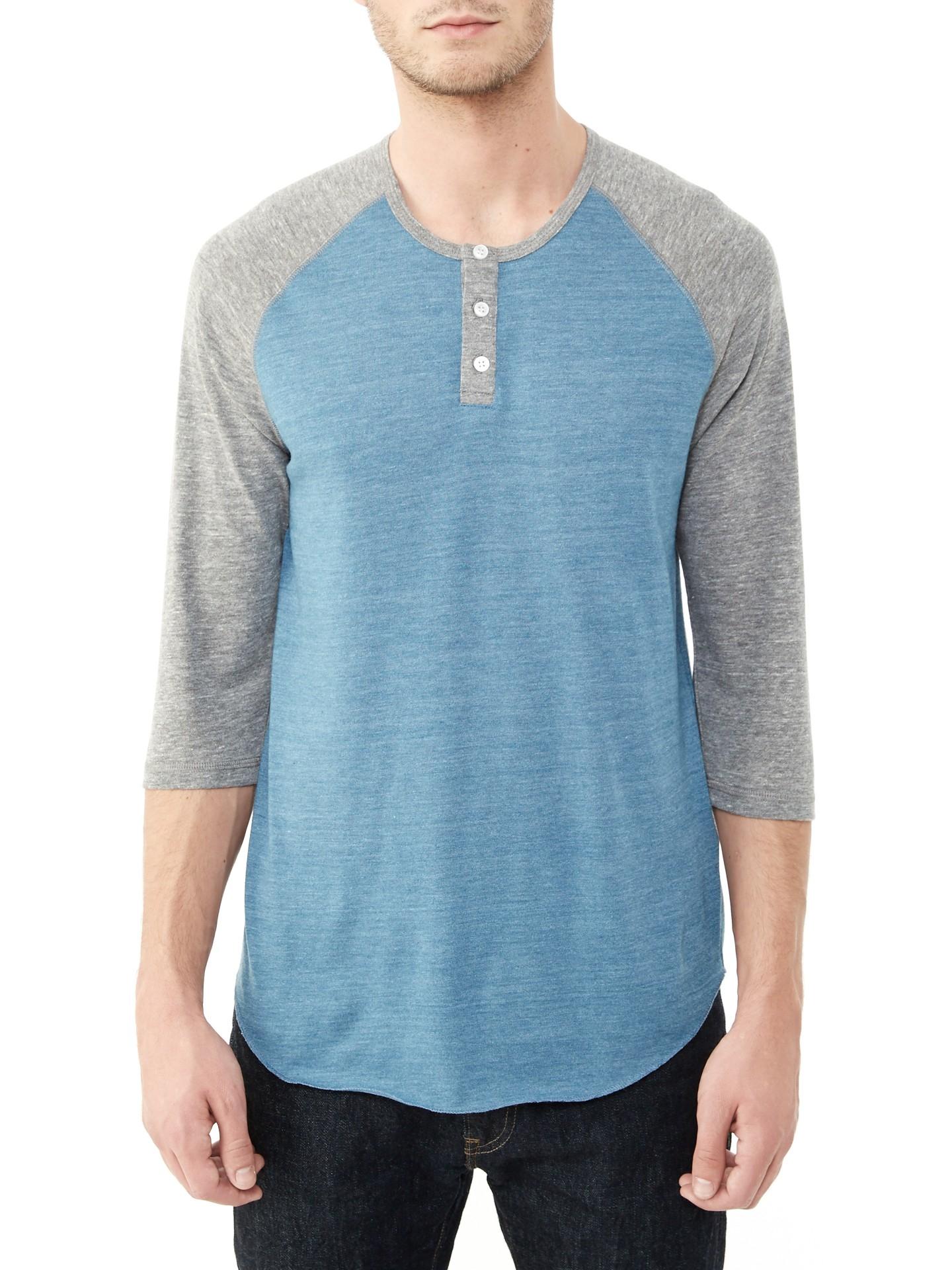 lyst alternative apparel basic eco jersey raglan henley