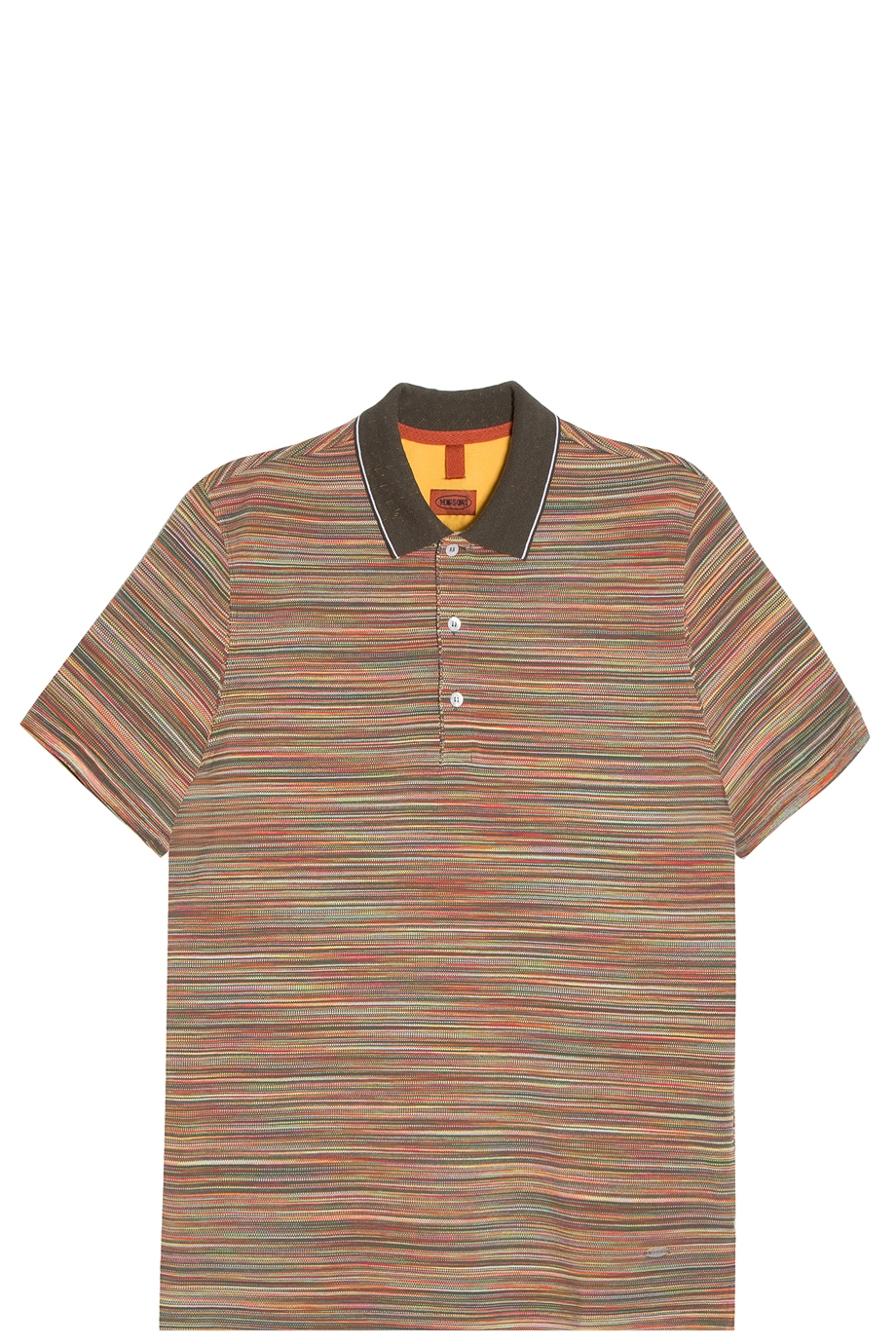 Missoni Striped Polo T-shirt in Khaki for Men | Lyst