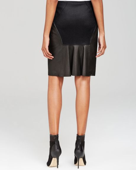elie tahari leather mini skirt bloomingdale s