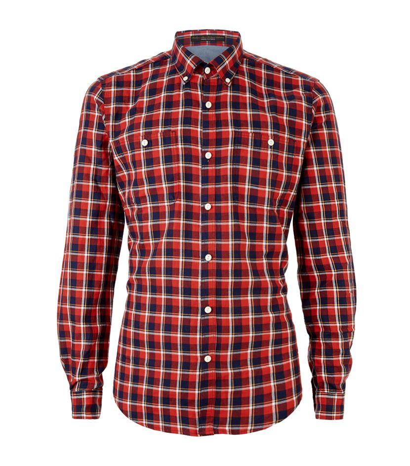 Barbour Orange Cabell Check Shirt For Men Lyst