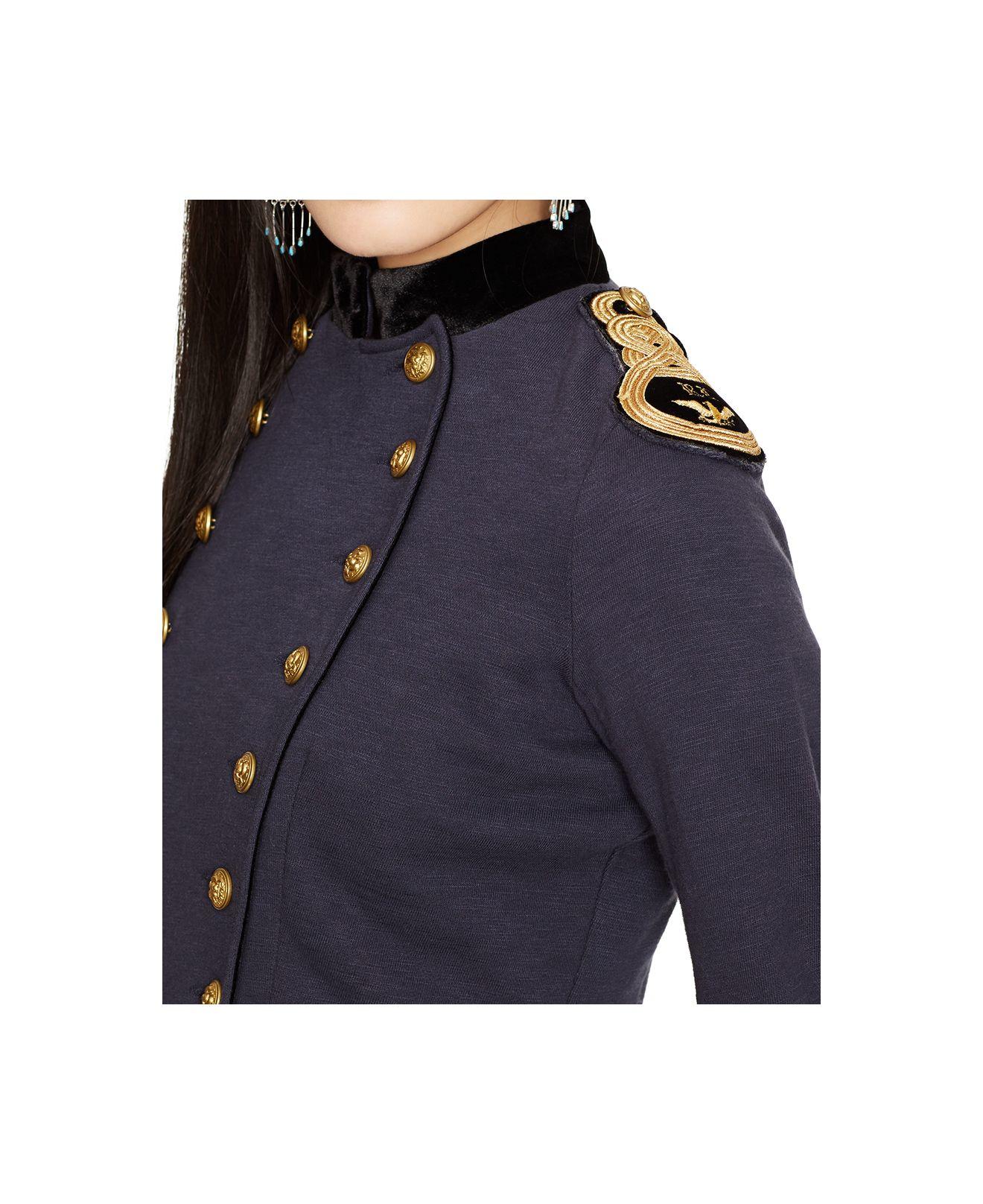 Lyst Denim Amp Supply Ralph Lauren Peplum Military Jacket