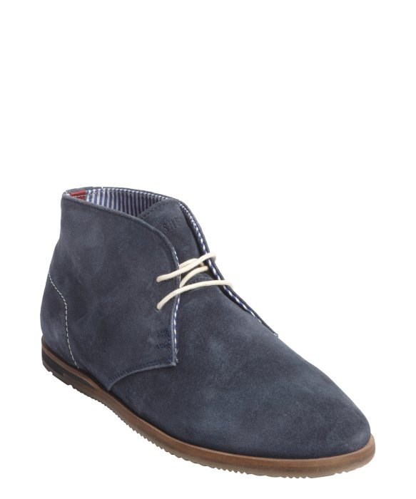 ben sherman navy suede aberdeen chukka boots in blue for