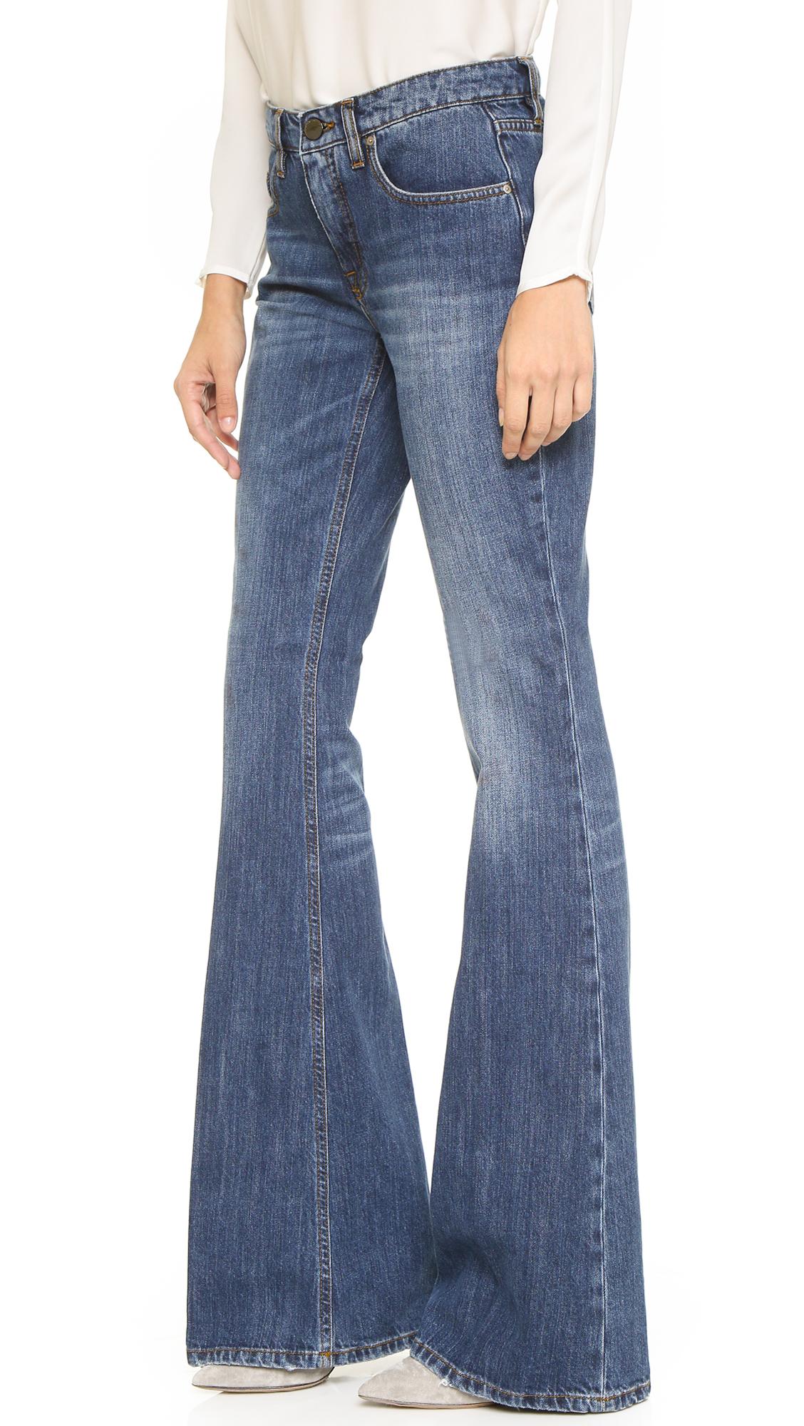 victoria beckham flare jeans shawvintage in blue lyst. Black Bedroom Furniture Sets. Home Design Ideas