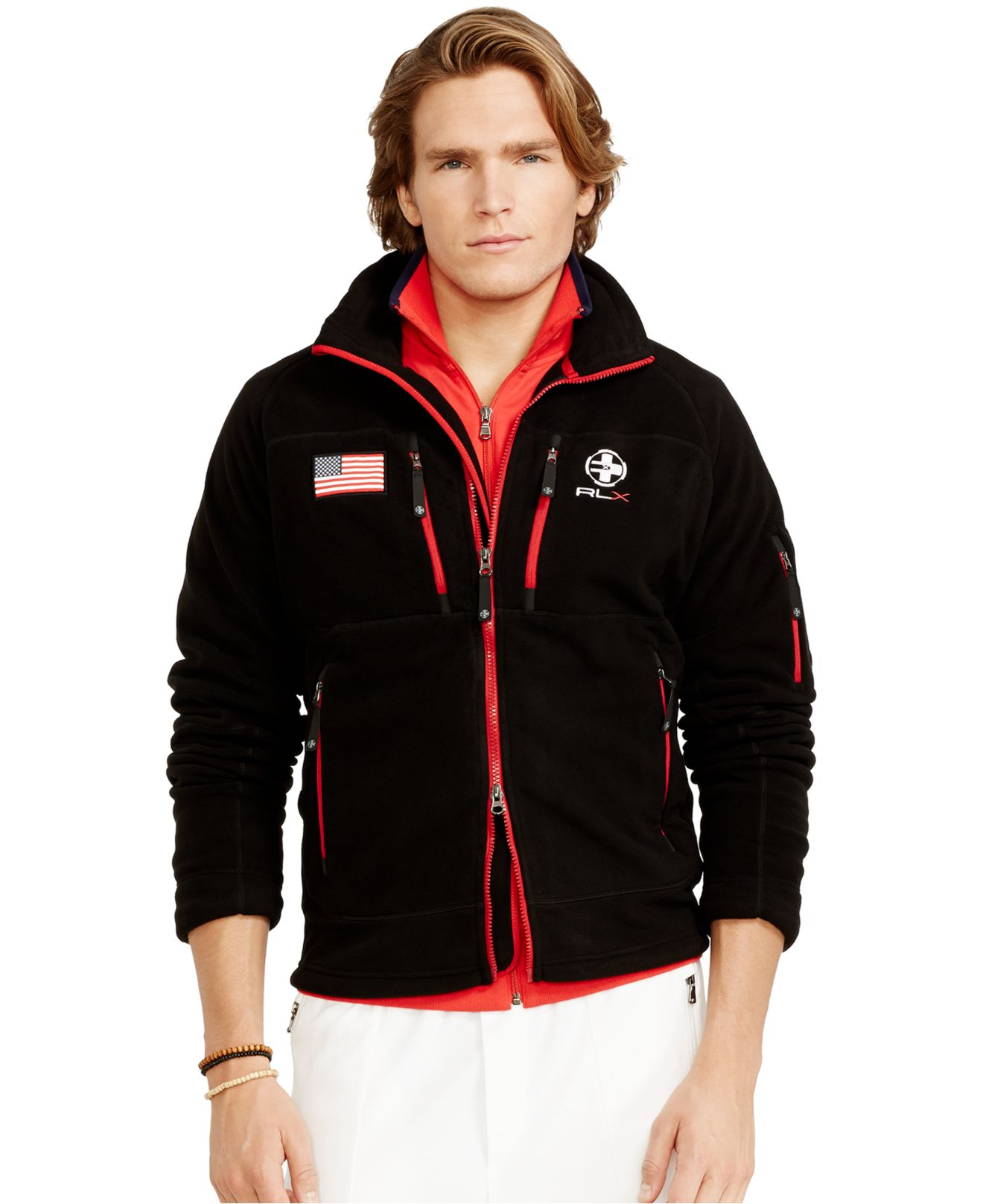 Polo ralph lauren Rlx Snow Polo Fleece Jacket in Black for Men | Lyst