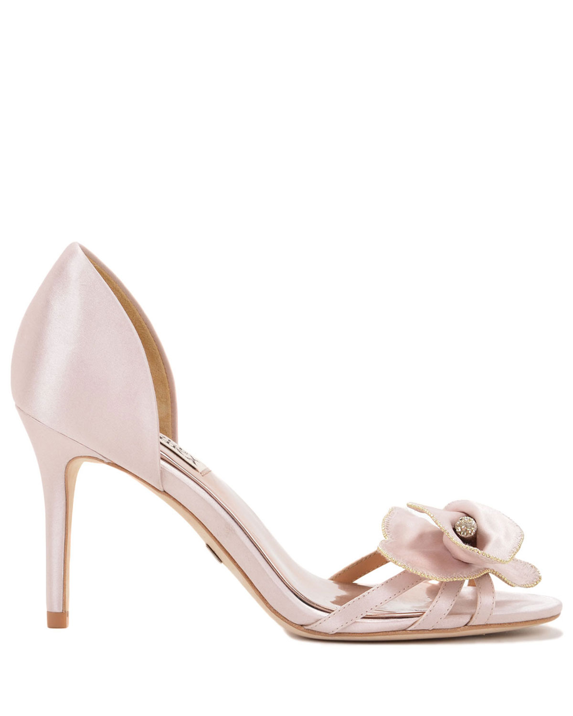 badgley mischka meribeth embellished toe evening shoe in