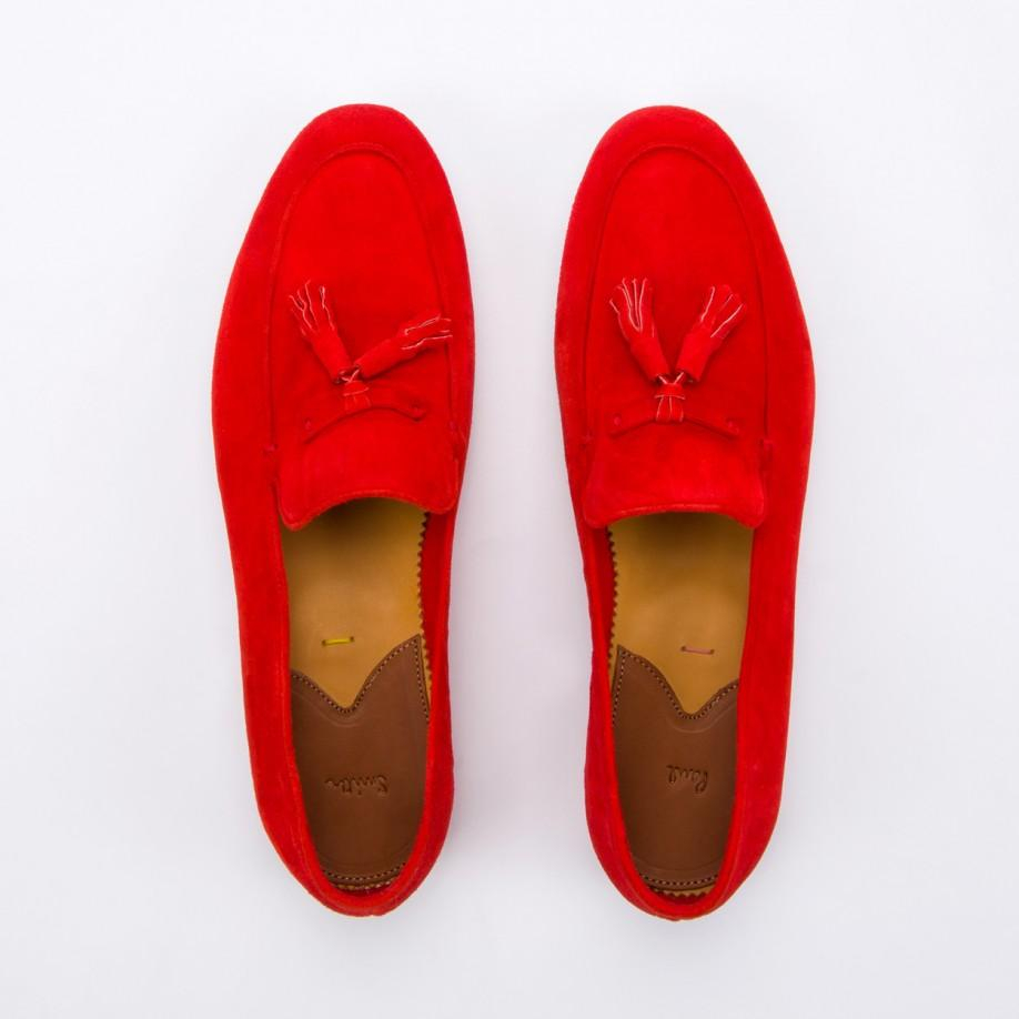 d6f6bd0c92f Lyst - Paul Smith Women S Red Suede Tasseled  Stevenson  Loafers in Red