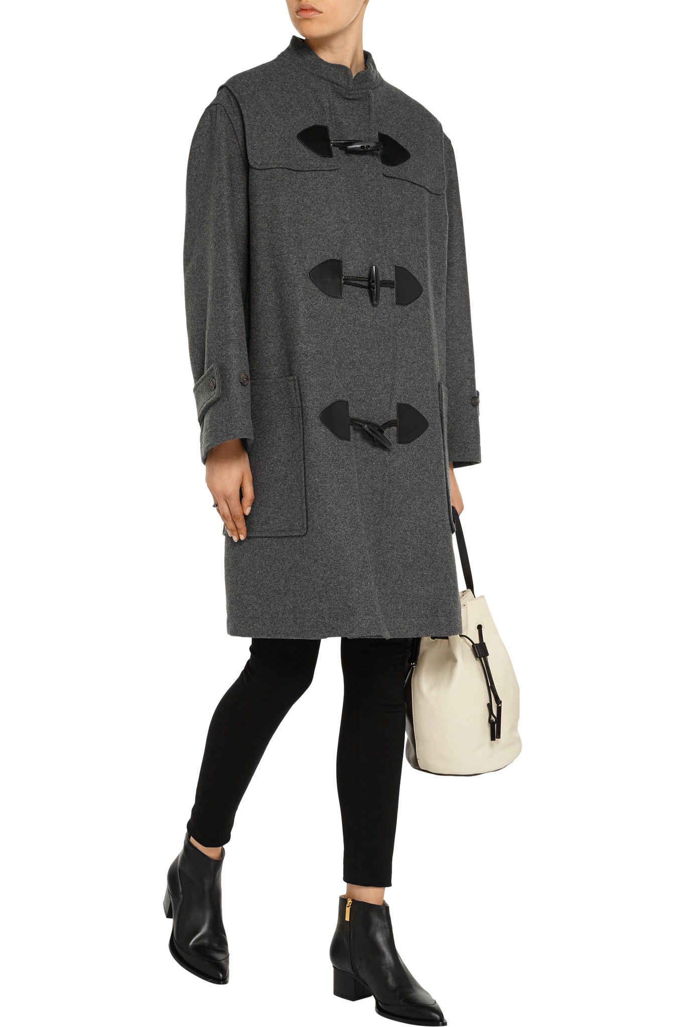 See by chloé Wool-blend Coat in Gray