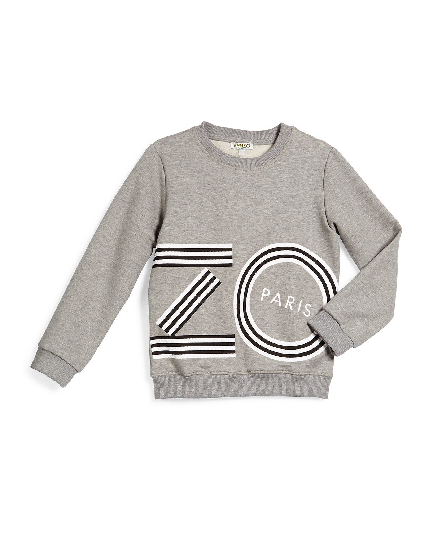 ad8e7b07 Lyst - KENZO Logo-script Pullover Sweatshirt in Gray