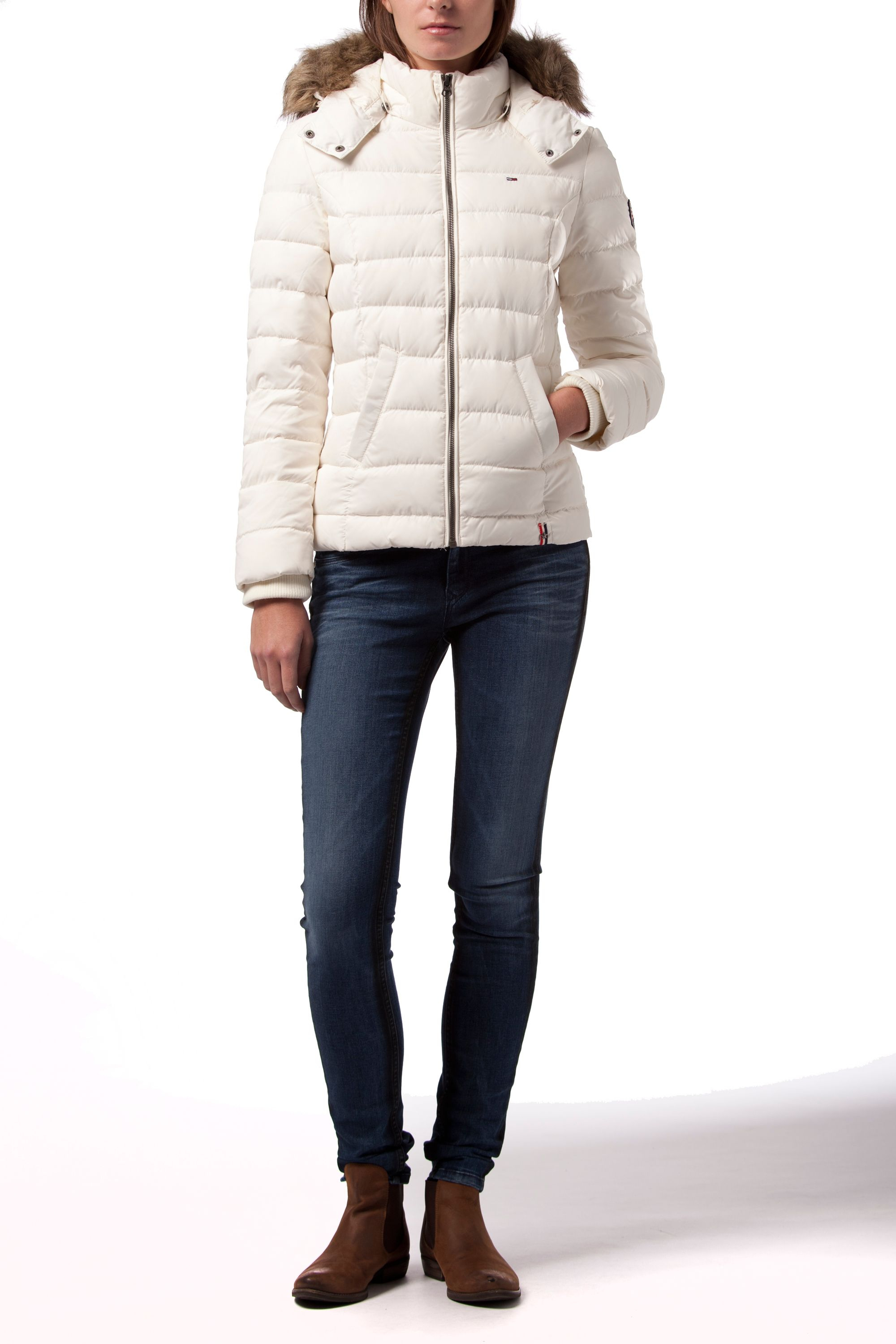 Tommy Hilfiger Martina Down Bomber Jacket In White Lyst