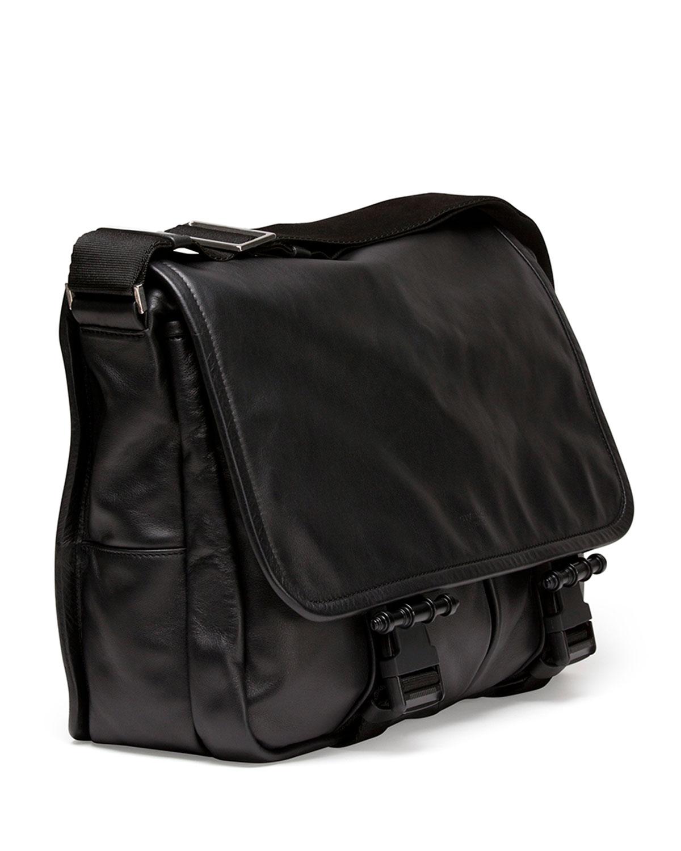 347bd292fb61 Lyst - Givenchy Obsedia Leather Messenger Bag in Black for Men