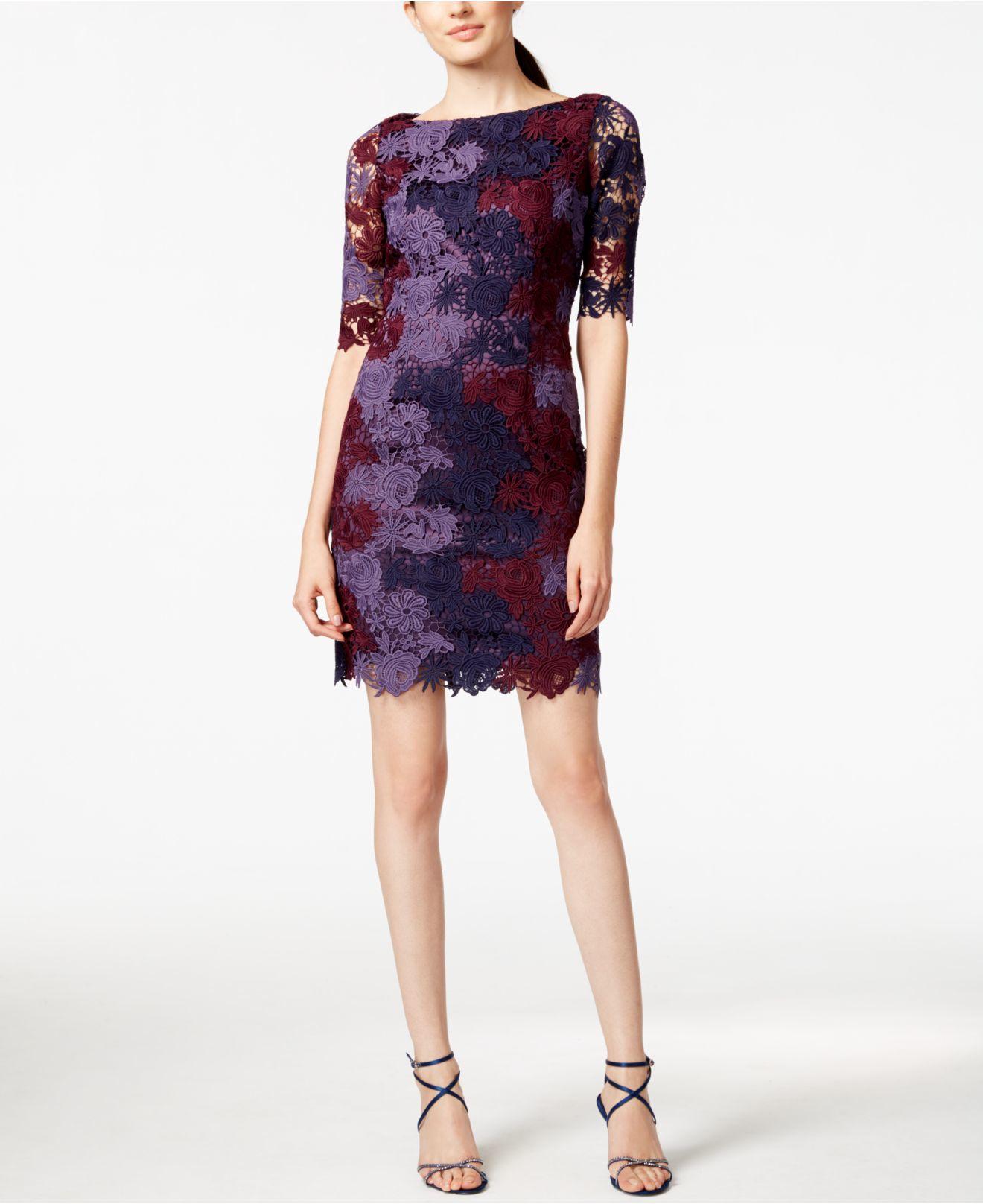 8ce2c180ba Lyst - Tahari Lace Sheath Dress