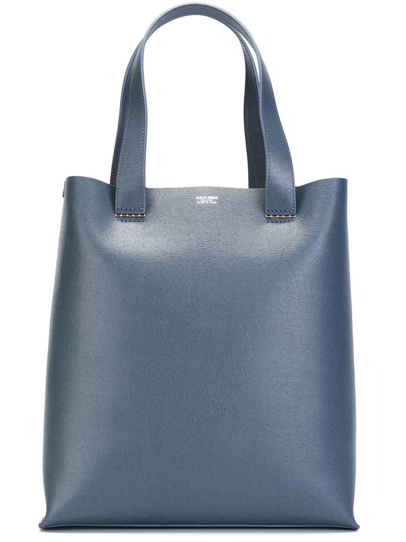 254d9452a7ac Lyst - Giorgio Armani Square Tote Bag in Blue