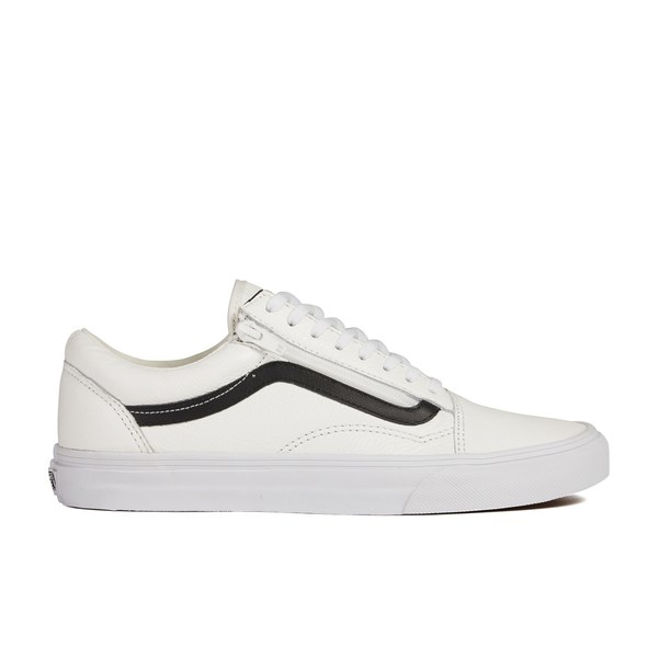 4f0f3fe14f Vans Men s Old Skool Zip Premium Leather Trainers in White for Men ...