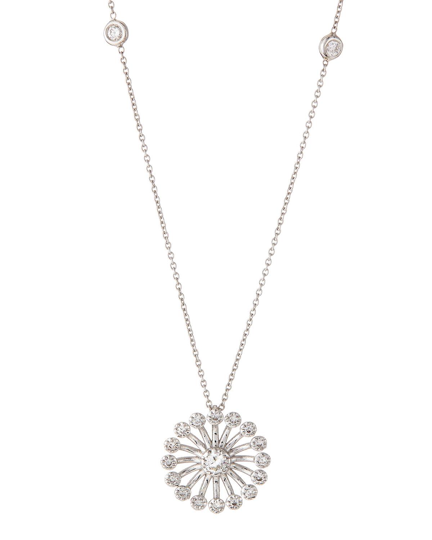 Lyst roberto coin 18k diamond starburst pendant necklace in metallic gallery mozeypictures Images