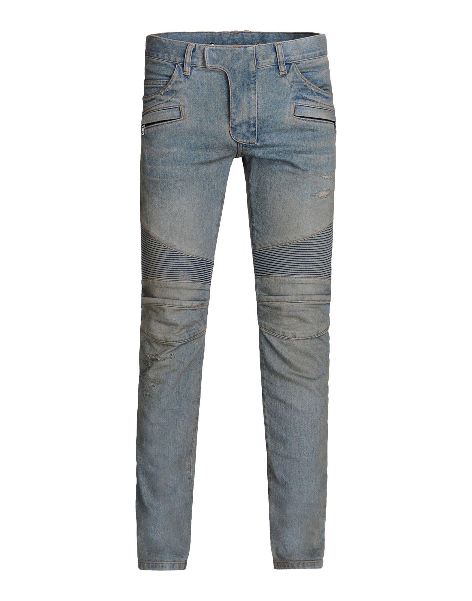 balmain denim pants in blue for men lyst. Black Bedroom Furniture Sets. Home Design Ideas
