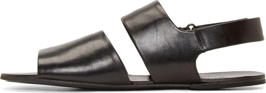 7c0ec8f53a1484 Lyst - Marsèll Black Leather Strappy Sandals in Black for Men