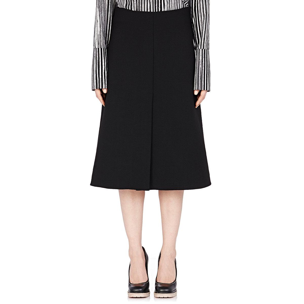 Marni Women's A-line Mid-length Skirt in Black