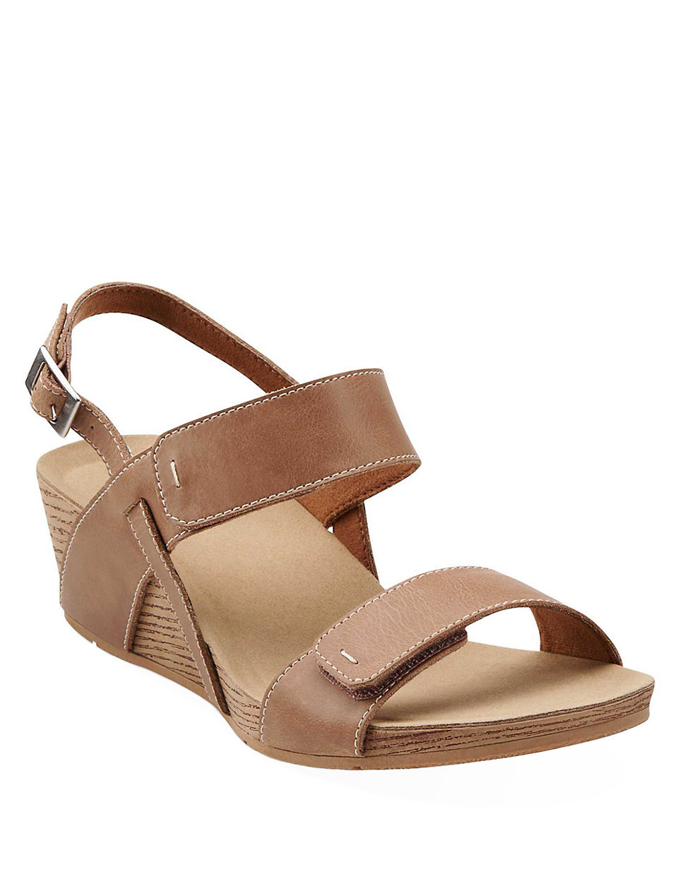 5b24c32882aa Clarks Alto Disco Wedge Sandals in Natural - Lyst