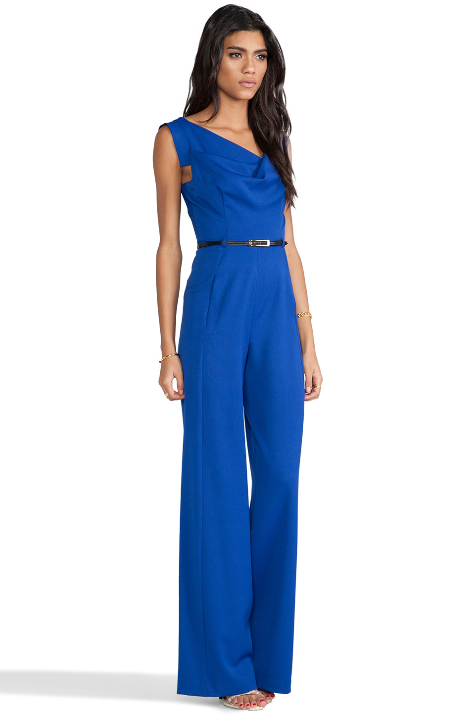 8b1f280b8e51 Lyst - Black Halo Jackie Jumpsuit in Royal in Blue