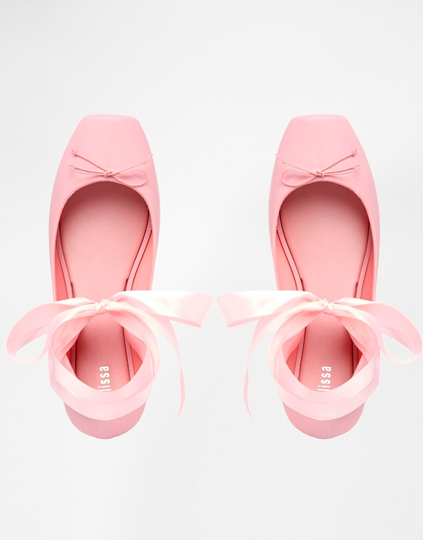 Lyst Melissa Ballet Baby Pink Flat Shoes in Pink
