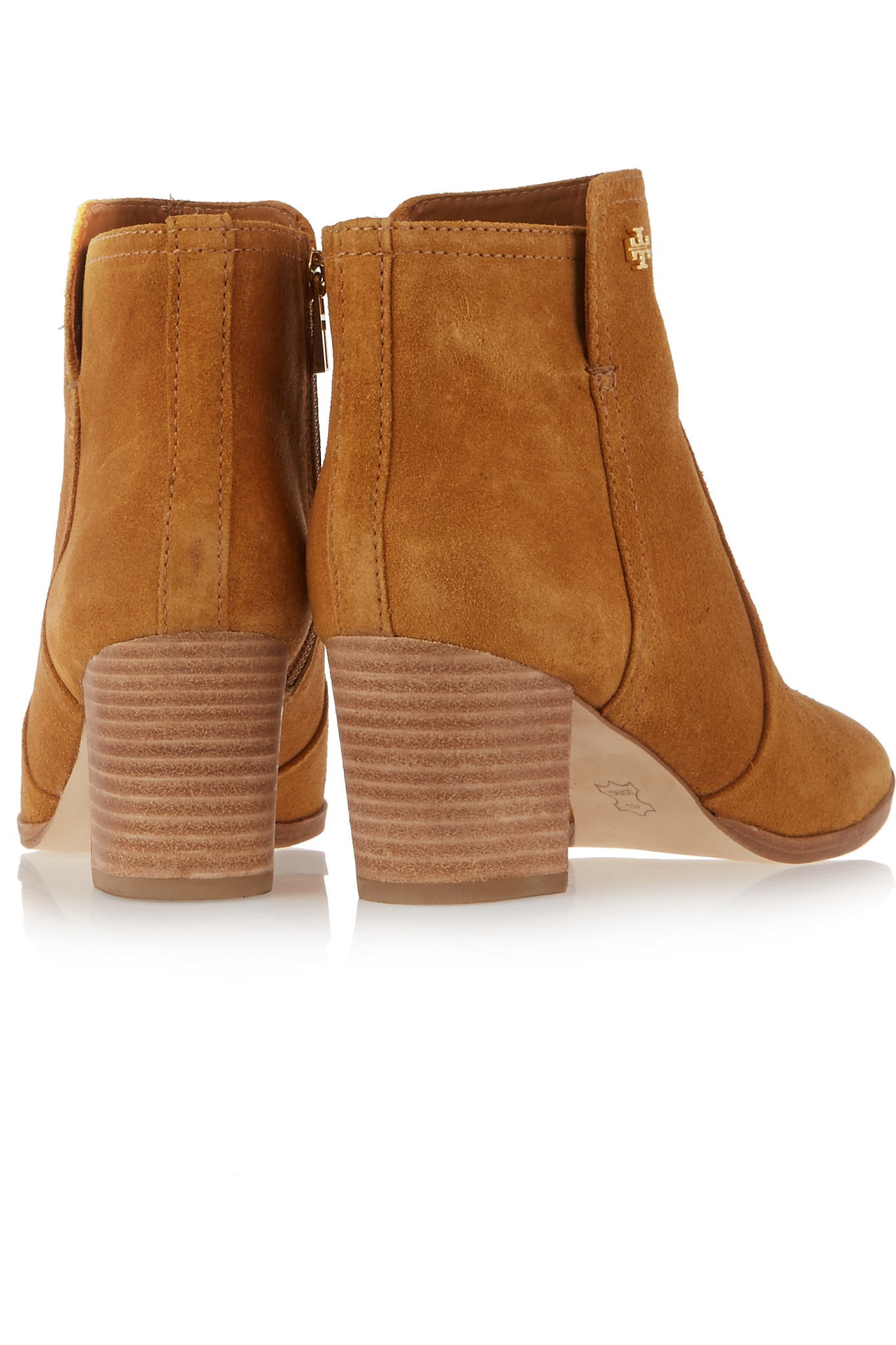 6914540dda8 Tory Burch Sabe Suede Ankle Boots in Brown - Lyst