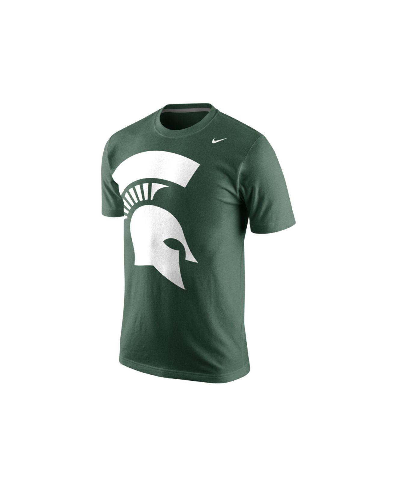 Nike men 39 s short sleeve michigan state spartans mascot t for Michigan state spartans t shirts