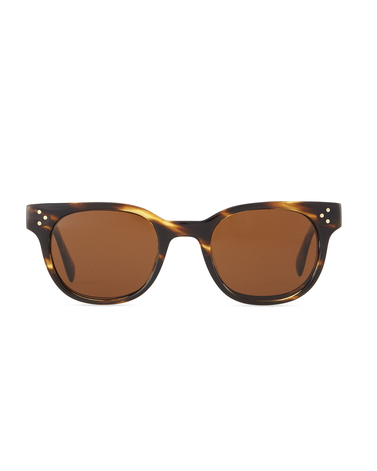 Oliver Peoples Afton Round Pin-temple Polarized Sunglasses