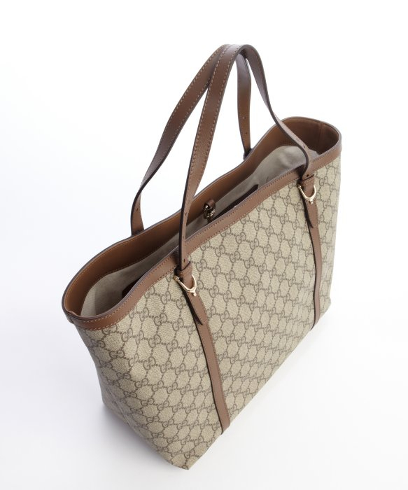 Gucci Medium Brown And Dark Tan Gg Supreme 'nice' Tote in Brown | Lyst