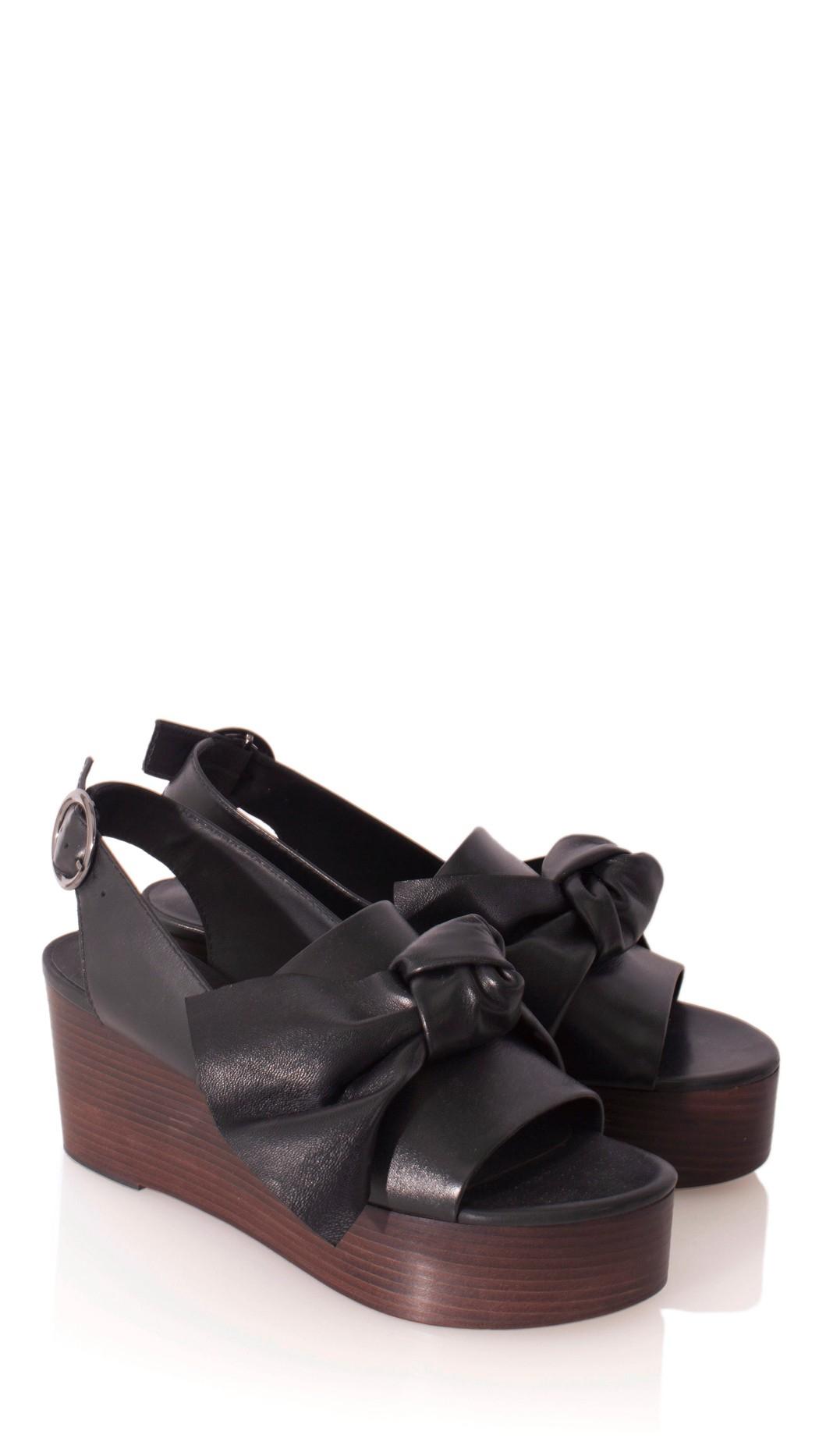 28be0951d1f8 Lyst - Tibi Estel Platform Sandals in Black