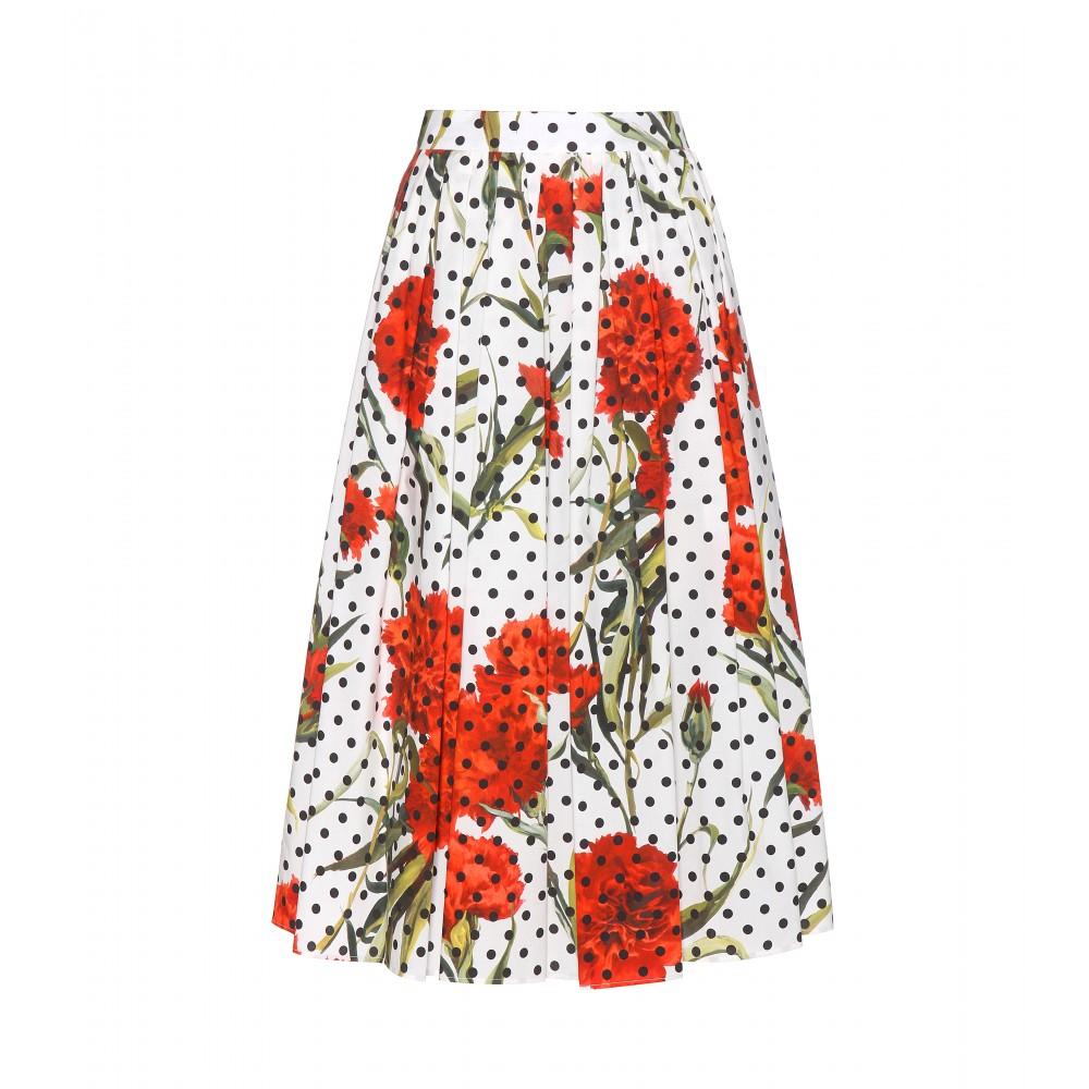 Dolce & gabbana Floral-printed Cotton Skirt | Lyst Kd 6 Floral Blends