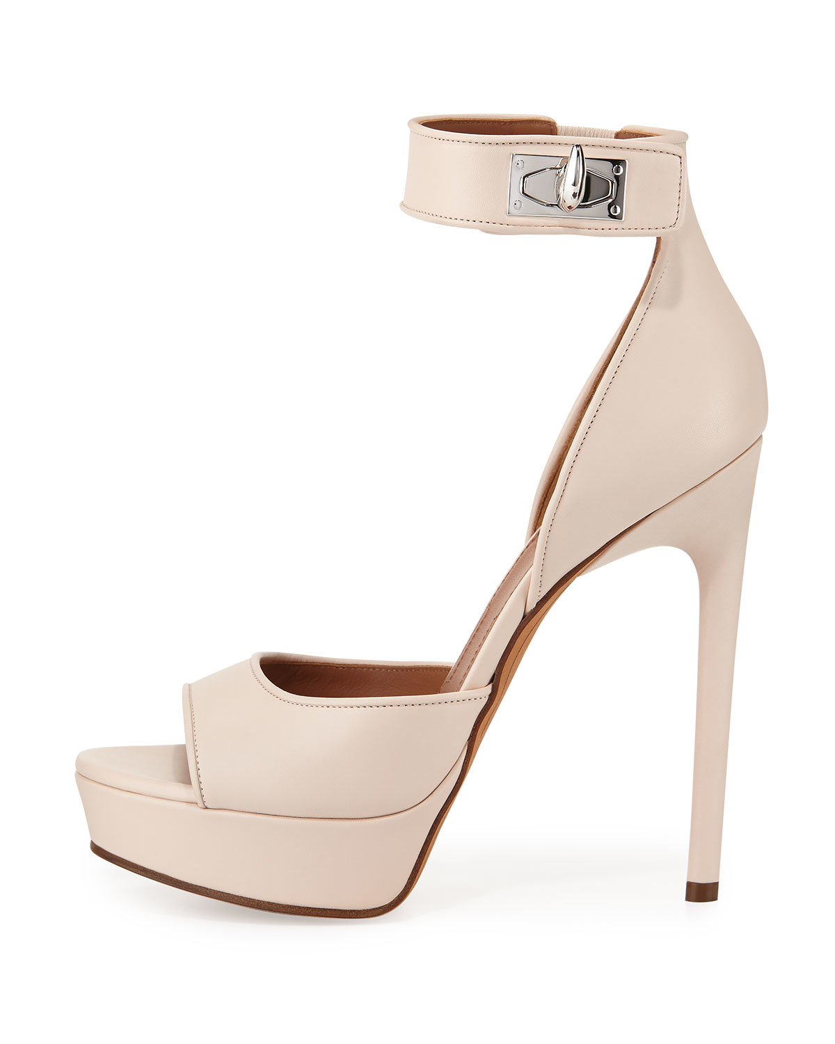 9ef1d5f34f1 Lyst - Givenchy Leather Shark-lock D orsay Sandal in Pink