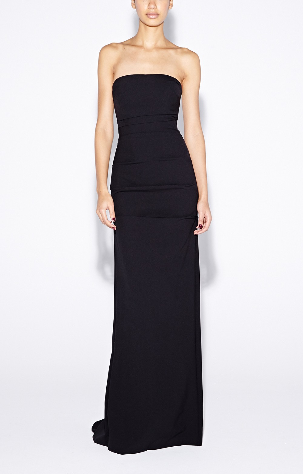 Lyst - Nicole Miller Felicity Strapless Crepe Gown in Black