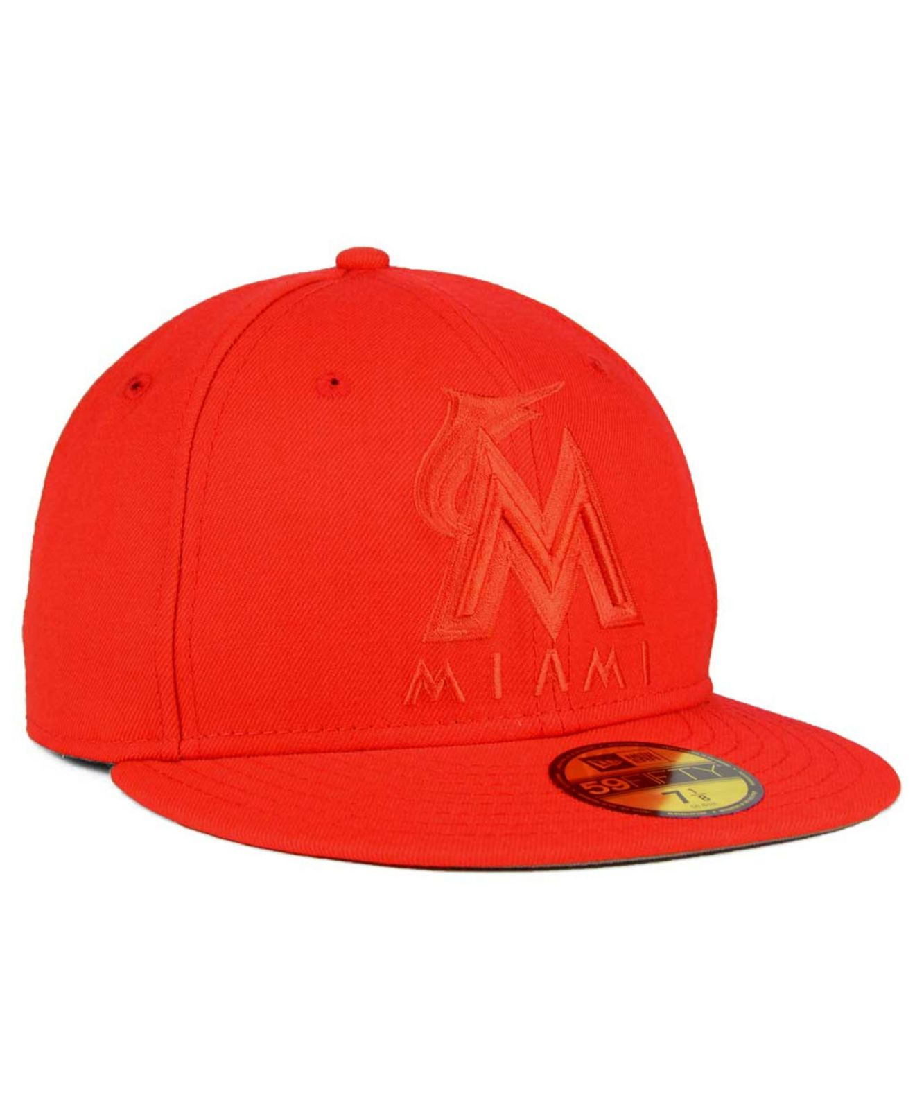 innovative design 56303 df68a ... new zealand lyst ktz miami marlins ton wool 59fifty cap in orange for  men be0cc aaefb