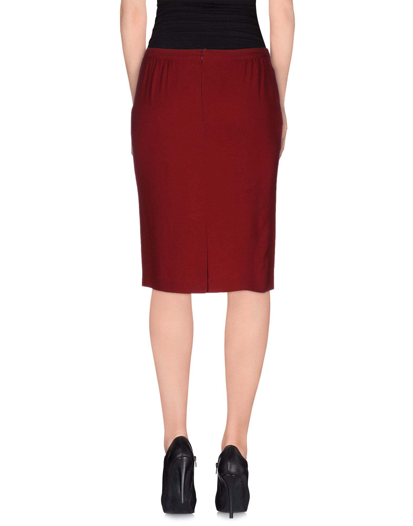 jucca knee length skirt in lyst