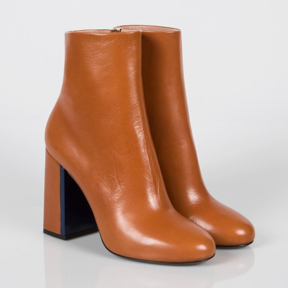 f11f8bd81a76 Lyst - Paul Smith Eileen Leather Ankle Boots in Brown