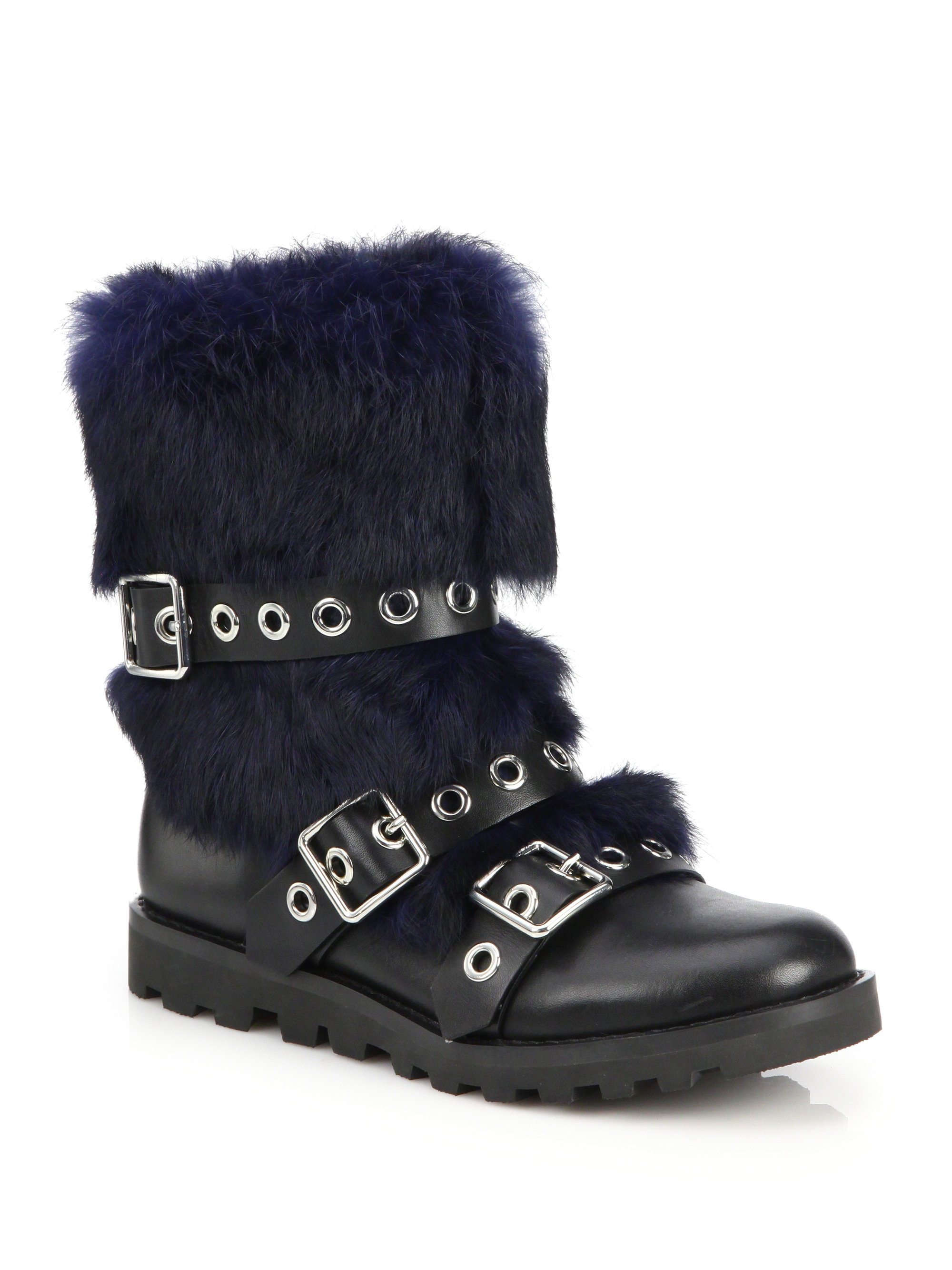 Marc Jacobs Leather Fur-lined Boots UCVA6bcm