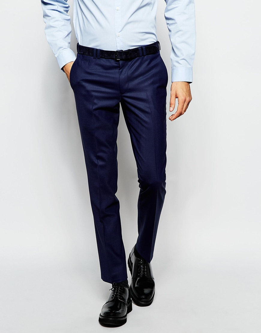 Noak Suit Trousers In Super Skinny Fit in Blue for Men | Lyst