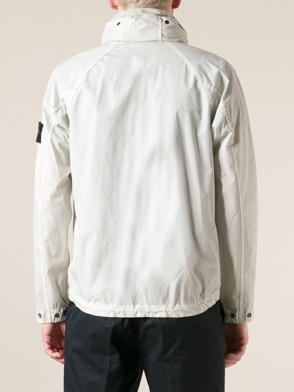 Lyst Stone Island Windbreaker Jacket In White For Men