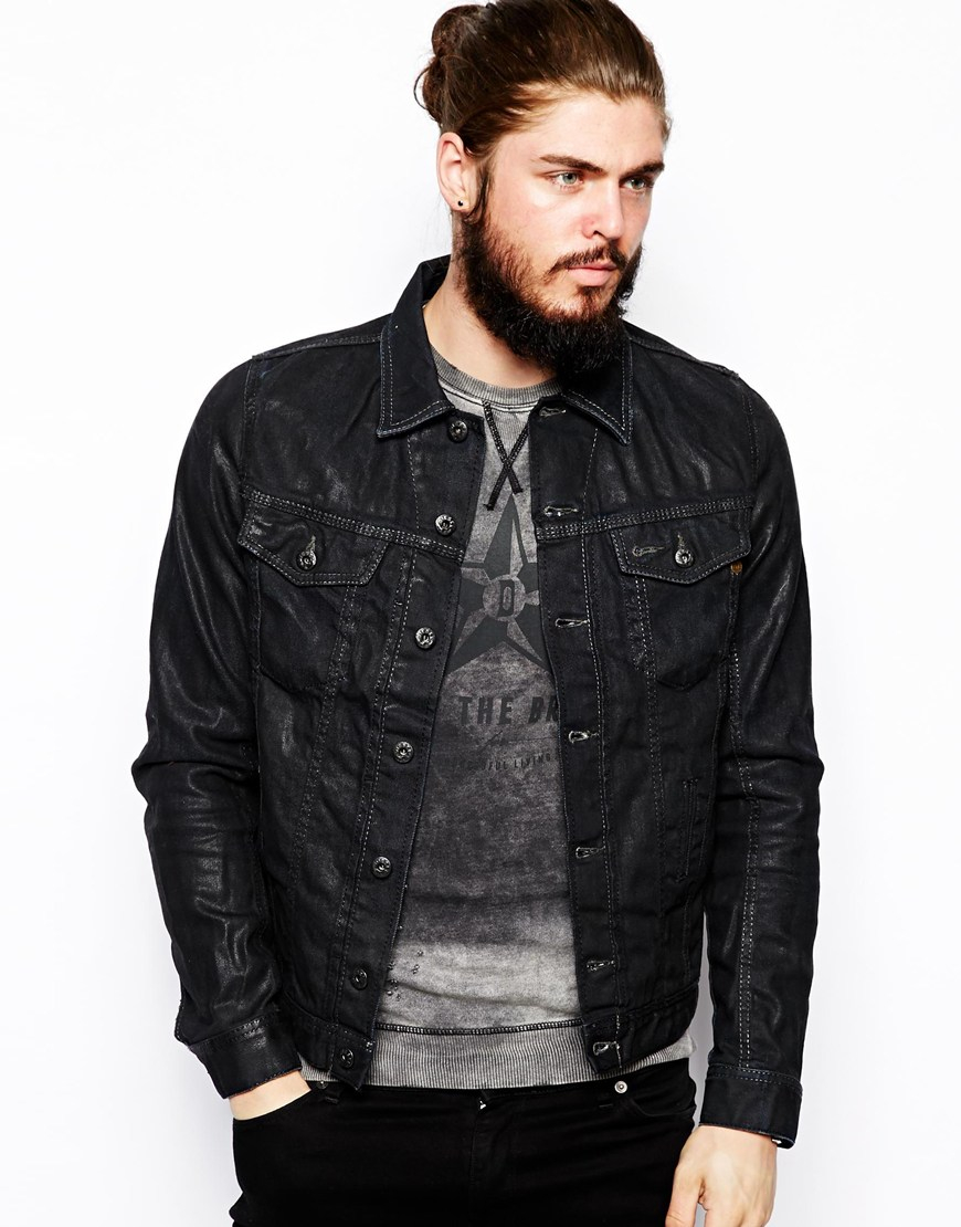Diesel Denim Jacket In Black For Men Lyst