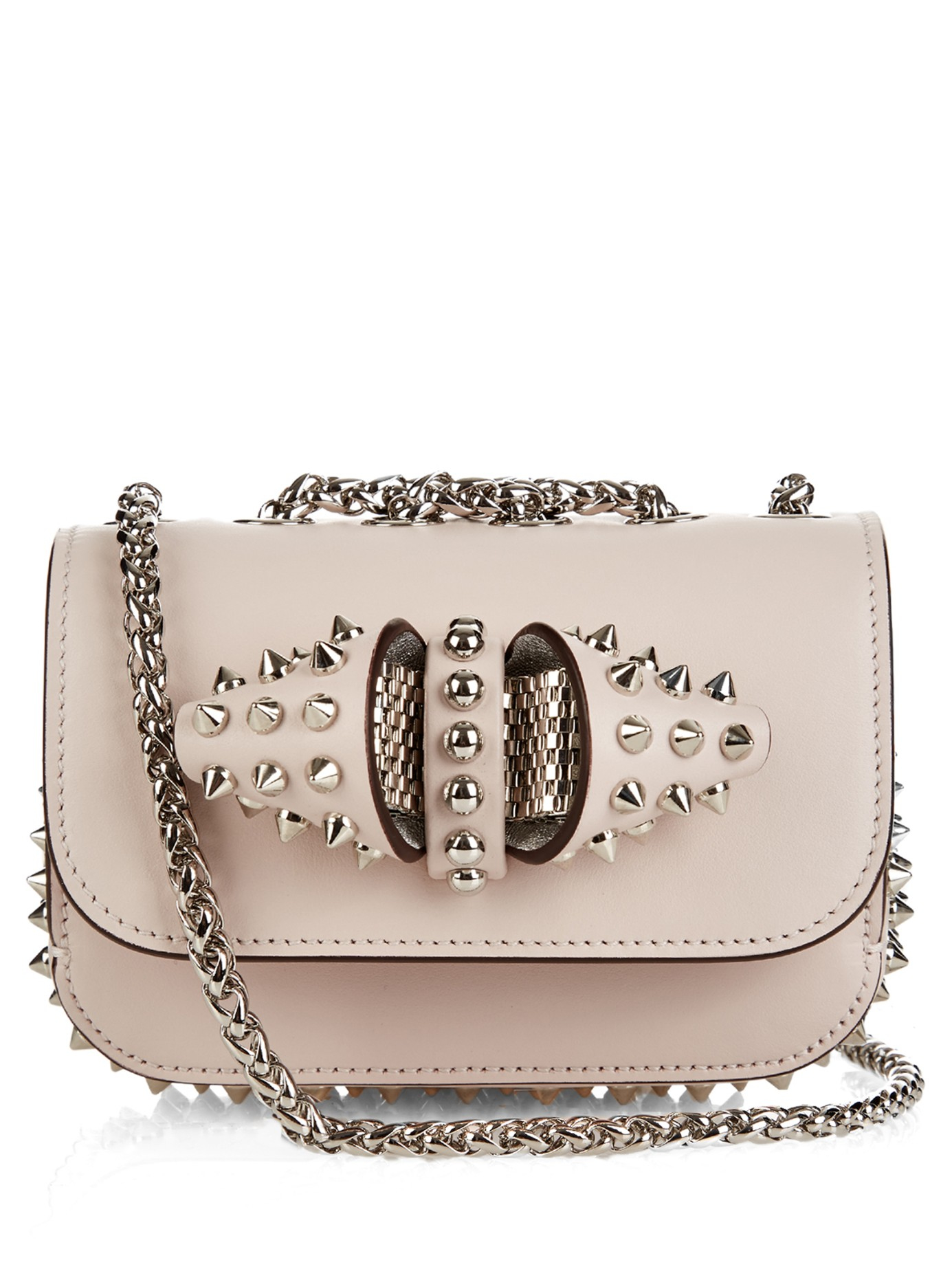 b4aa55b75af Christian Louboutin Sweety Charity Mini Shoulder Bag in Pink - Lyst