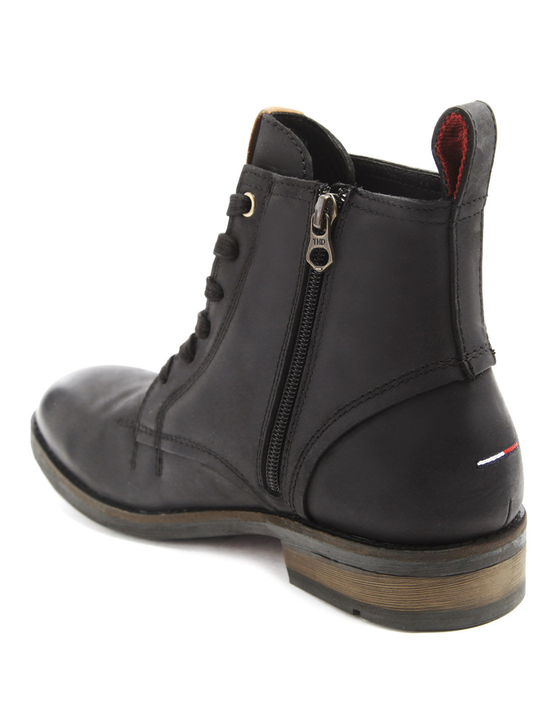tommy hilfiger darren black zipped boots in black for men. Black Bedroom Furniture Sets. Home Design Ideas